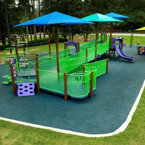 Inclusive Playground with Swings, Ramps, and Shade in Georgia gallery thumbnail